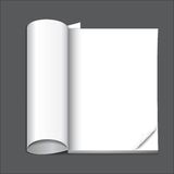 Blank magazine page. Ready for your design Royalty Free Stock Photos