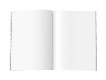 Blank Magazine Pages - XL. Blank magazine with double spread pages, on a white background with shadows. With clipping path included Stock Images