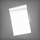 Blank magazine with rolled pages. Stock Image