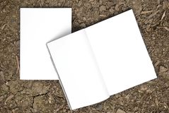 Blank magazine spread and front side Royalty Free Stock Images