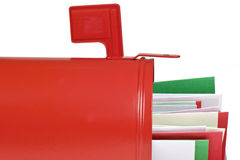 Blank Mail Box With Christmas Cards Stock Images