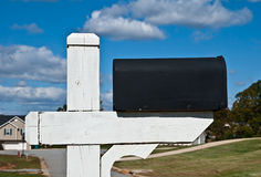 Blank Mailbox and Sky Royalty Free Stock Photography