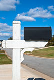 Blank Mailbox and Sky Stock Photography