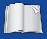 blank mall för sida för tidskrift för designorientering Arkivbilder