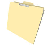 Blank Manila Folder Documents File Archive History Royalty Free Stock Image