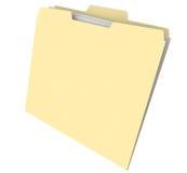 Blank Manila Folder Documents File Archive History Royalty Free Stock Image