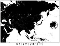 Map Asia Japan Stock Illustrations – 5,506 Map Asia Japan Stock ...
