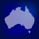 Blank Map of Australia. Concept Australia map  in blue background. Stock . Flat design Stock Photography