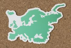Blank map of Europe and countries Royalty Free Stock Photo