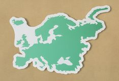Blank map of Europe and countries Royalty Free Stock Images