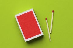 Blank matchbox Stock Photography