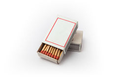 Blank Matchboxes Royalty Free Stock Image