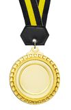 Blank medal. Blank gold medal for strip in wording Royalty Free Stock Image