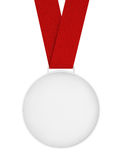 Blank Medal with Ribbon Stock Photos