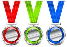 Blank medals Stock Photo