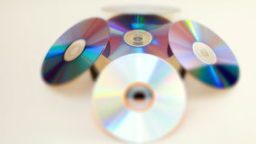 Light reflecting on compact discs Stock Image