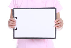 Blank medical clipboard Royalty Free Stock Photo