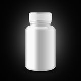 Blank  medicine  bottle  on black background, illustration Royalty Free Stock Images