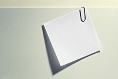 Blank memo attached to a document Stock Images