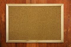 Blank Memo Cork Board Stock Photography