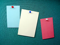Blank memo notes Stock Photos
