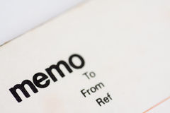 Blank memo pad notebook. To insert text, copy space Royalty Free Stock Photos