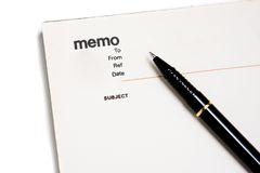 Blank memo pad notebook. To insert text, copy space Royalty Free Stock Photography