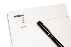 Blank memo pad notebook. To insert text, copy space Stock Photography