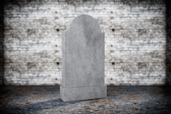 Blank Memorial Gravestone Stock Photography