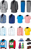 Blank Men's wear. Blank Men wear. Business, casual and sports clothing royalty free illustration