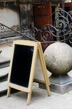 Blank menu black board Royalty Free Stock Images