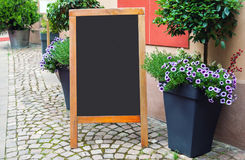 Blank Menu Blackboard On The Street Royalty Free Stock Photography