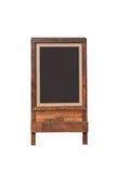 Blank menu blackboard outdoor display isolated Stock Photography