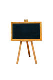 Blank menu blackboard outdoor display isolated on white Stock Photography