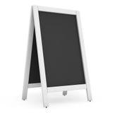 Blank Menu Blackboard Outdoor Display Royalty Free Stock Photos