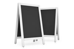 Blank Menu Blackboards Outdoor Display Stock Photography