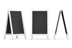 Blank Menu Blackboards Outdoor Display Royalty Free Stock Photo