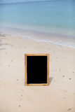 Blank menu board at the beach Stock Photo