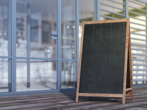 Blank menu board on sidewalk Royalty Free Stock Image