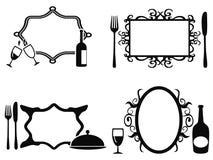Blank menu frames set Stock Photography