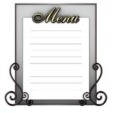 blank meny för blackboard Royaltyfria Bilder