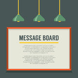 Blank Message Board On The Wall Royalty Free Stock Photos