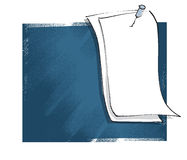 Blank message card, freehand drawing Royalty Free Stock Photo