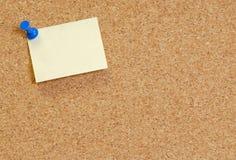 Blank message on corkboard Stock Photos