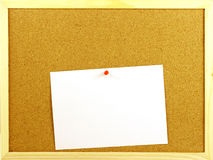 Blank message in a corkboard Stock Image