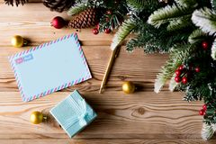 The blank message paper in christmas festive concept Royalty Free Stock Photos