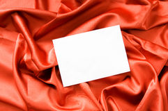 Blank message on the red satin Stock Photos