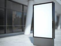 Blank metal advertising stand. 3d rendering Stock Image