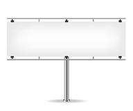 Blank metal billboard Royalty Free Stock Photography