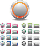 Blank Metal Buttons Colorful Royalty Free Stock Photography